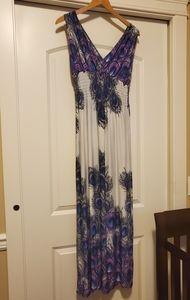 Kismet - Peacock Smocked dress XL